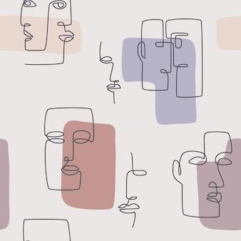 モダンなミニマリストのシームレスパターン