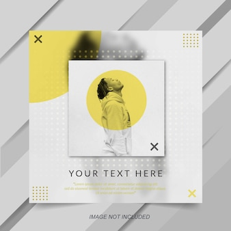 Modern minimalist yellow instagram post banner template