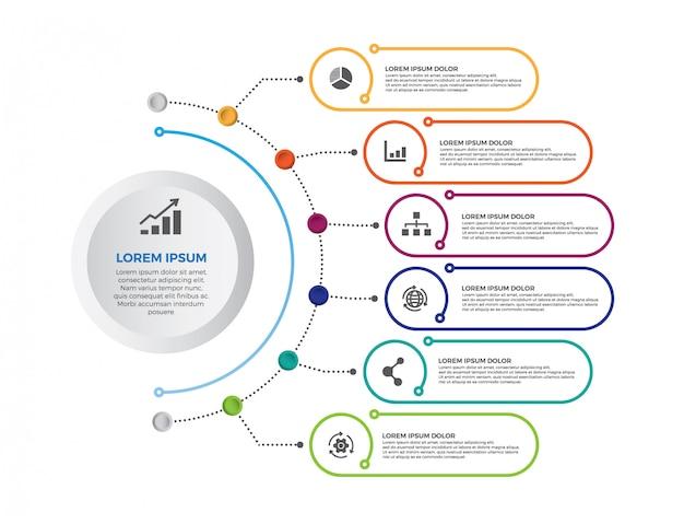 Modern minimalistic infographic banner. timeline infographics design vector.