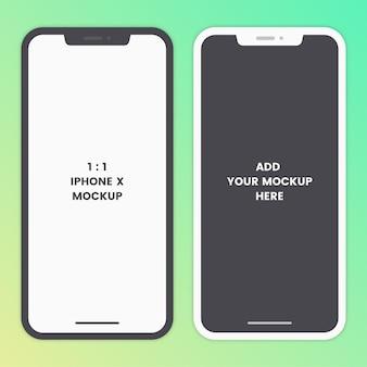 Modern mobile mockup