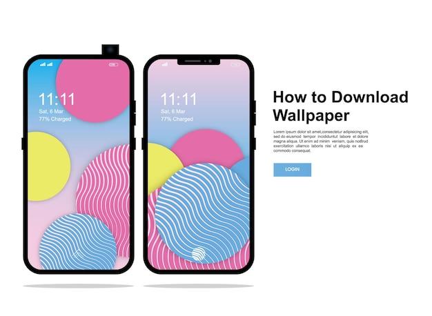 현대 휴대폰 화면 벽지 디자인