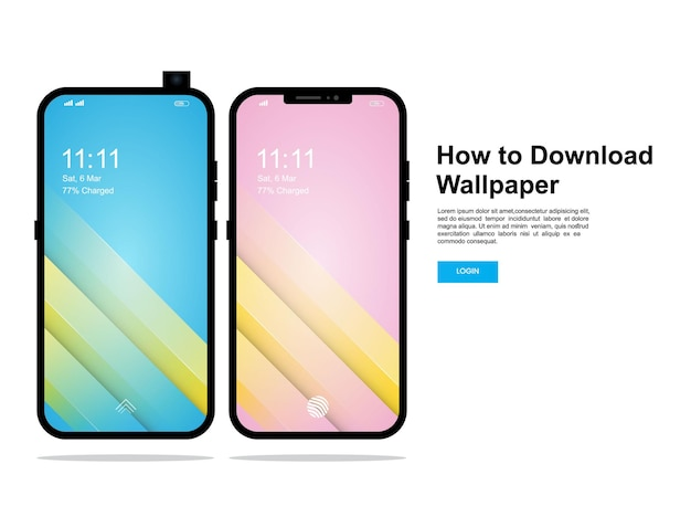 Современный дизайн обоев экрана мобильного телефона