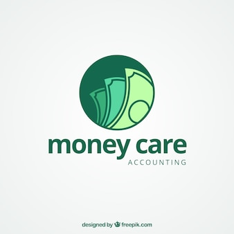 Modern money logo concept