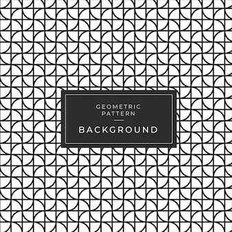 현대 흑백 기하학적 완벽 한 패턴 배경 데코