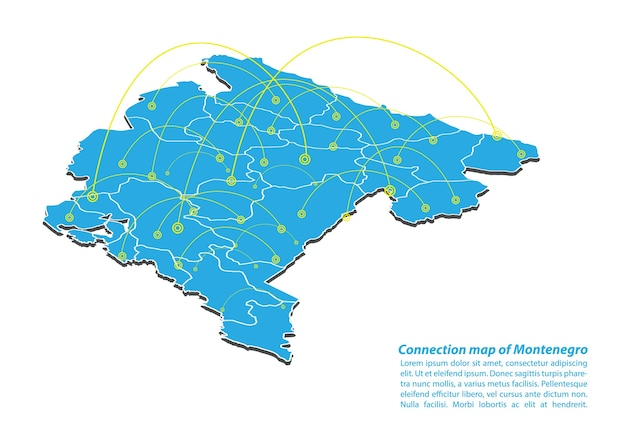 Modern of montenegro map connections network design