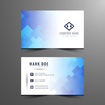 Modern mosaic pattern business card design