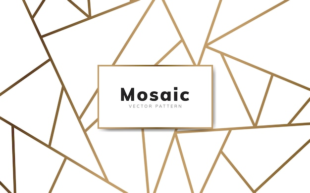 Carta da parati moderna in mosaico in bianco e oro