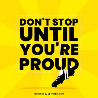 Modern motivation quote in yellow color