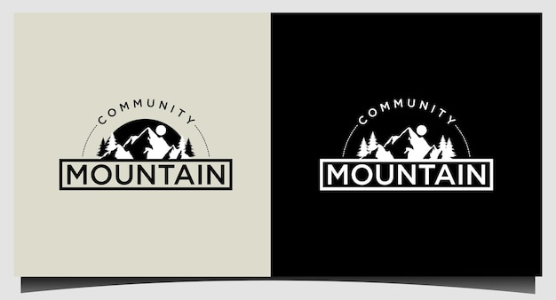 Modern mountain logo template