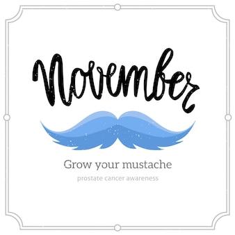Modern movember lettering design