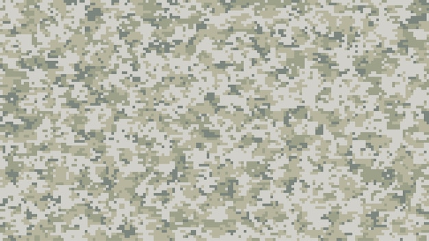 Modern multi-scale camouflage pattern in digital pixels
