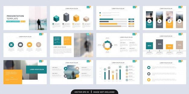 Modern multipurpose presentation template set