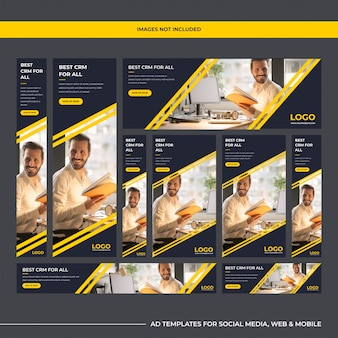 Modern multipurpose software company ad templates for digital marketing