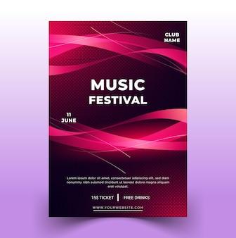포스터 템플릿 - 현대 음악 축제