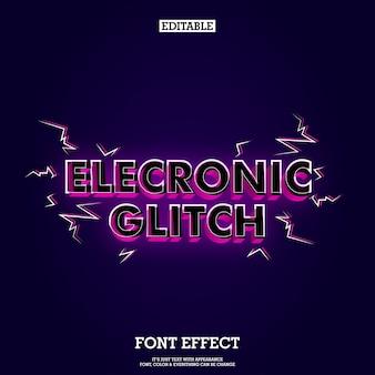 Modern music headline font tittle with glitch effect