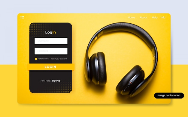 Modern music podcast login page templates