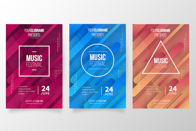 Modern music poster collection
