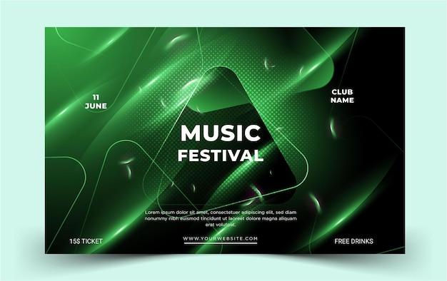 Modern music poster festival