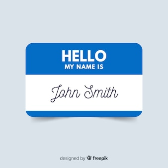 Modern name tag template