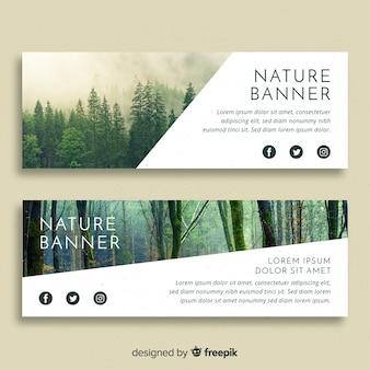 Bandiere di natura moderna con foto