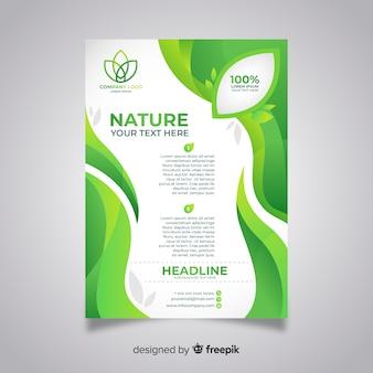 평면 디자인으로 현대 자연 전단지 서식 파일