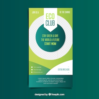 Modern nature flyer template with lovely style