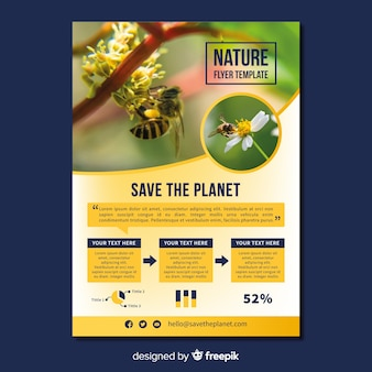 Modern nature flyer template
