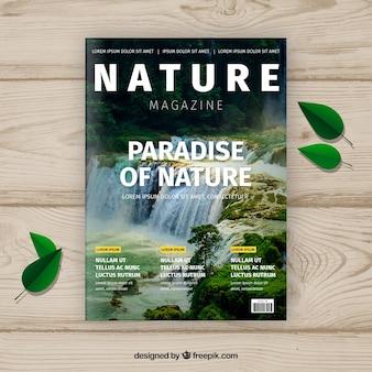 Современный шаблон для журнала журнала природы с фотографией