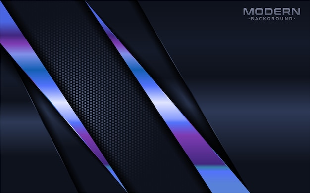 Modern navy background with colorful shinny blue lines element