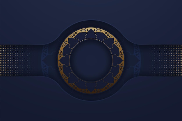 Modern navy blue with abstract style