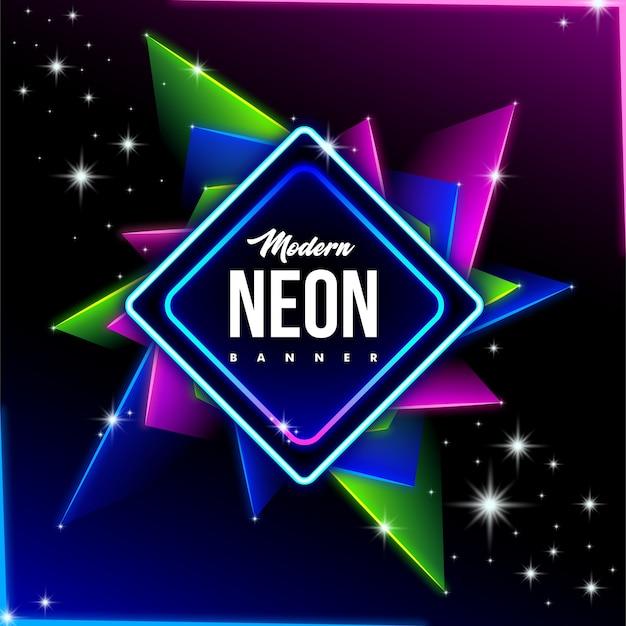 Modern neon banner