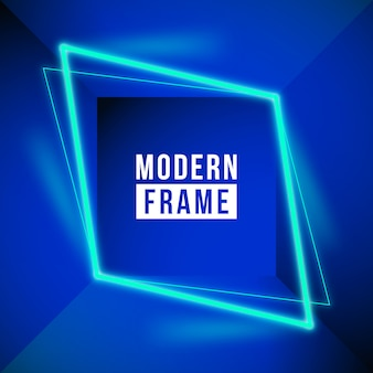 Modern neon frame background