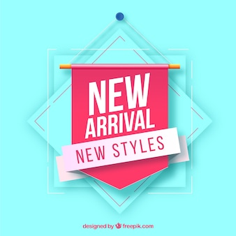 Modern new arrival composition with realistic design