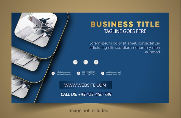 Modern new business banner design
