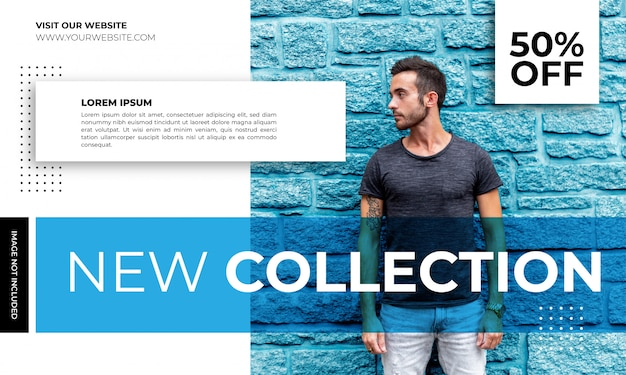 Modern new collection banner template