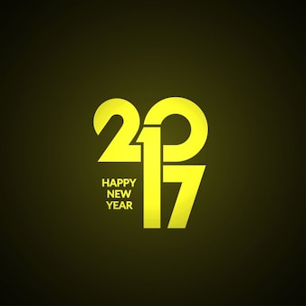 Modern new year 2017 yellow background