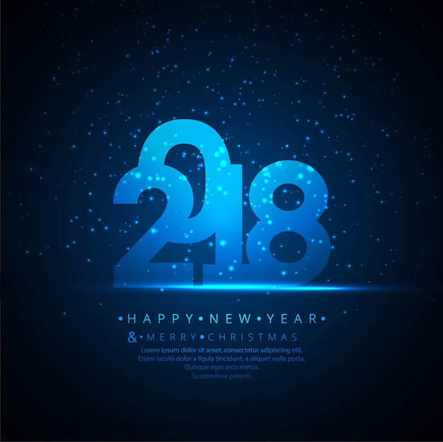 Modern new year 2018 background