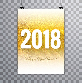 Modern new year 2018 brochure design