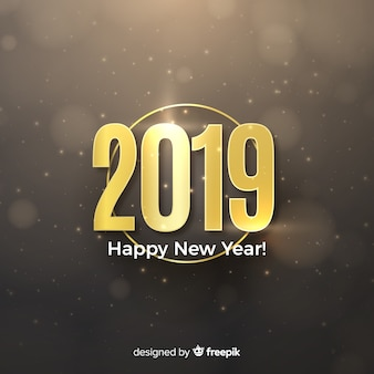 Modern new year composition with elegant style