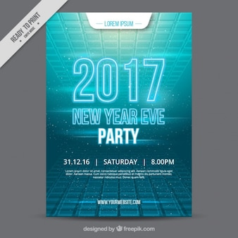 Modern new year party brochure 2017