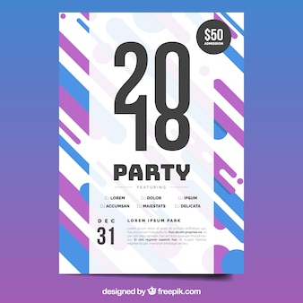 Modern new year party poster