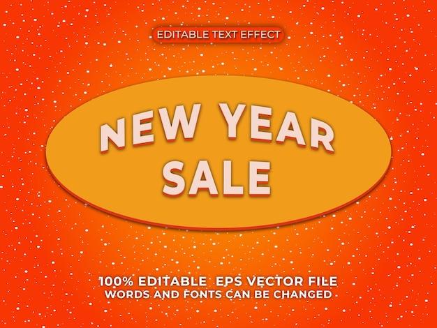 Современная новогодняя распродажа 3d редактируемый текстовый эффект