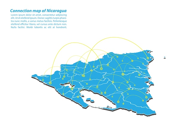 Modern of nicaragua map connections network design