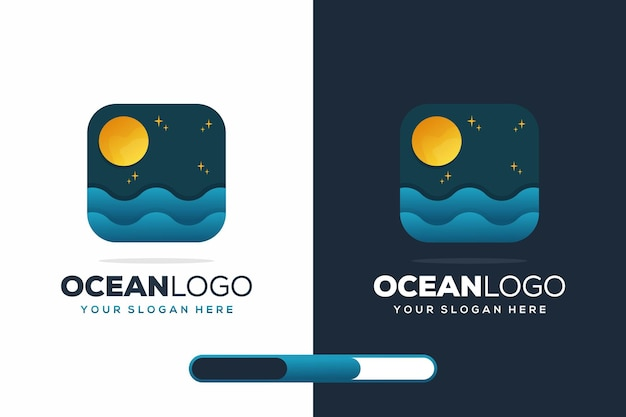 Modern ocean logo desig