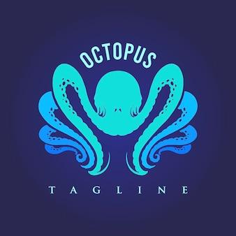 Современный силуэт осьминога. современный логотип, иллюстрации для вашей работы. логотип,