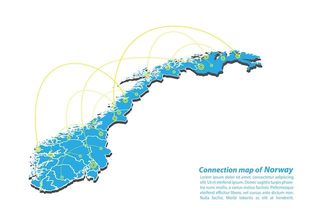 노르웨이지도 연결 네트워크 디자인의 현대