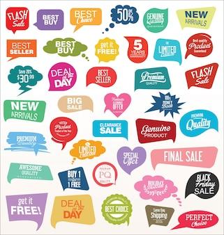 Modern offer sale tag