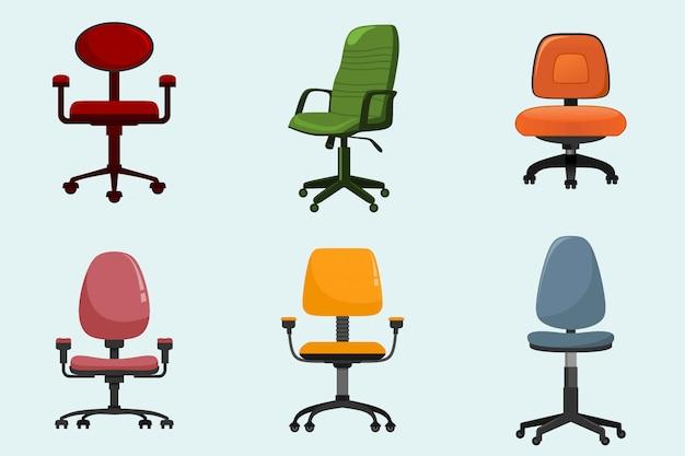 Modern office armchair set.