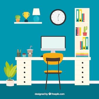 Современный офисный стол с симпатичным стилем