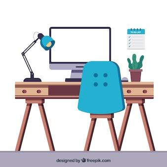 Современный офисный стол с забавным стилем